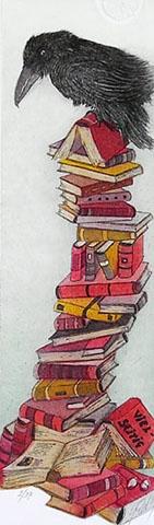 """VIELSEITIG"" Radierung, ca. 8 x 30 cm"