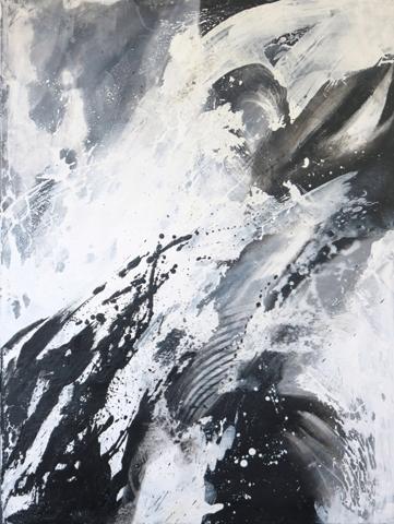 """WINTER"" Acryl/Leinen, 60 x 80 cm"
