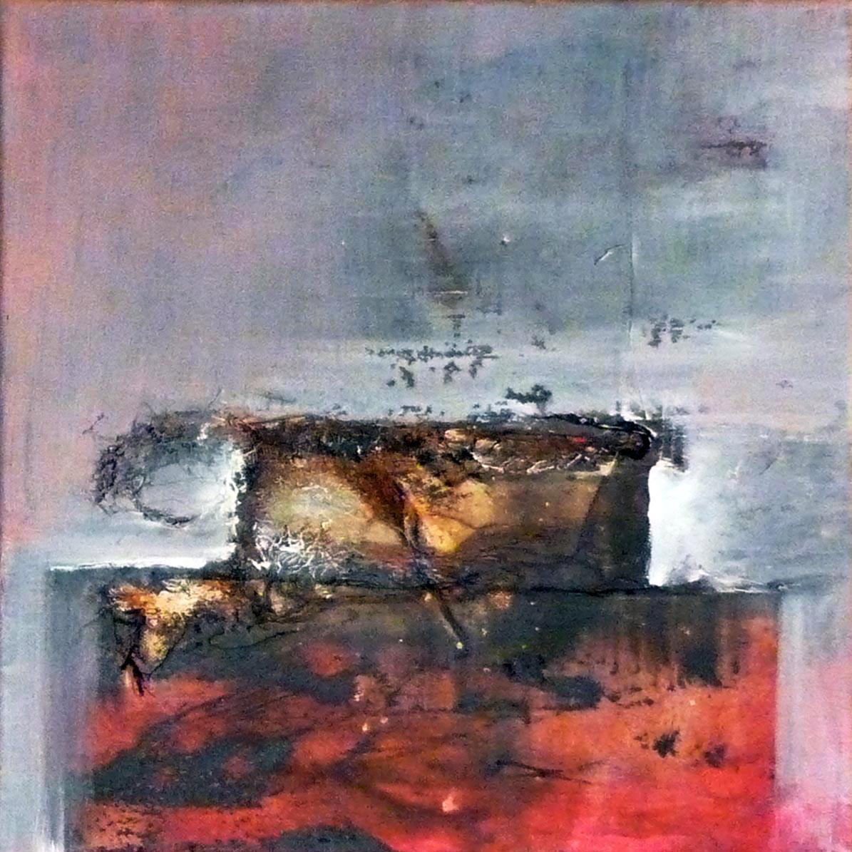 """""""ATOP"""" Acryl / Leinen, 40 x 40 cm"""