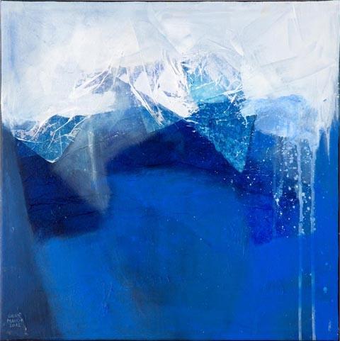 """BERGSEE"" Acryl / Leinen, 50 x 50 cm"