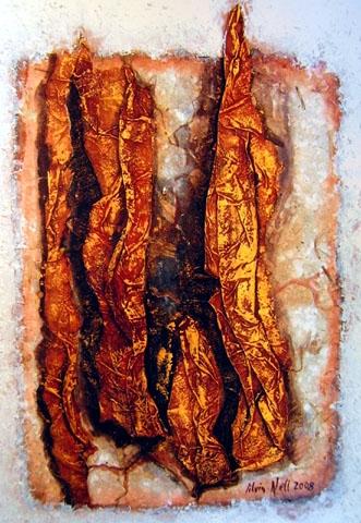"""DURCHBLICK"" Acryl / Papier, 30 x 40 cm"