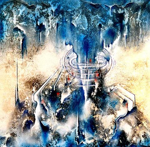 """""""EISZEIT"""" Espontaneo, Acryl, 100 x 100 cm"""