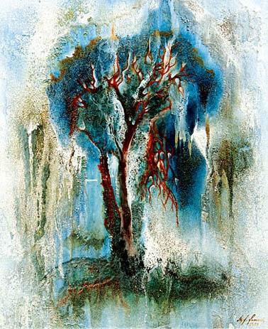 """""""ESPONPINIA"""" Espontaneo, Acryl, 60 x 80 cm"""
