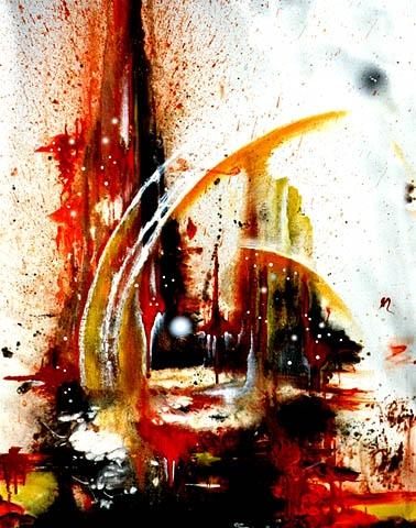 """FEURIG"" Espontaneo, Acryl, 80 x 100 cm"