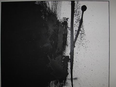 """SCHWARZ-WEISS"" Acryl / Leinen, 70 x 100 cm"