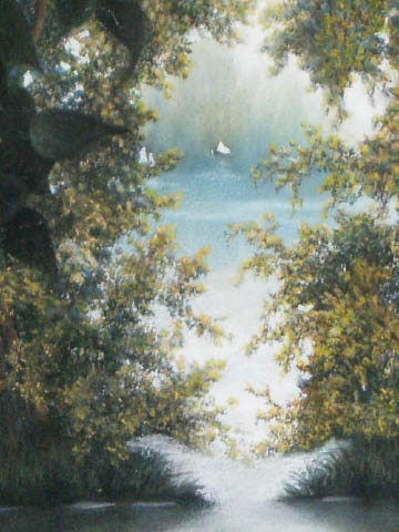 """""""STILLER WEIHER"""" Titelbild zu Lyrikband, Pastell, ca. 35 x 27 cm"""