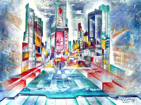 """TIME SQUARE"" Zyklus New York, Acryl, 60 x 80 cm"