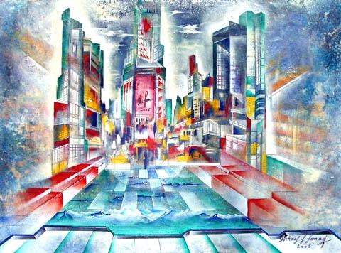 """TIME SQUARE"" Zyklus New York, Acryl, 60 x 80 cm"