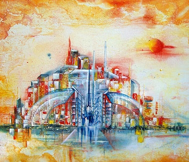 """URBAN"" Zyklus Urban, Acryl, 80 x 100 cm"