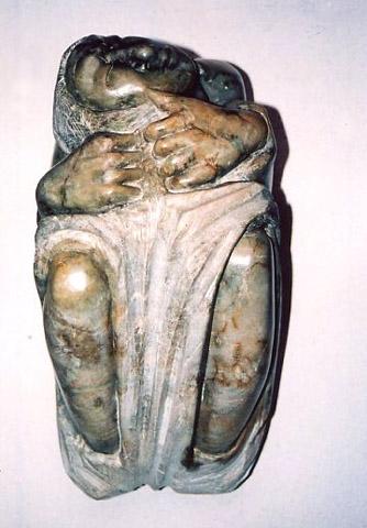 """""""ZWERGENFRAU"""" Speckstein, 25 x 14 cm"""