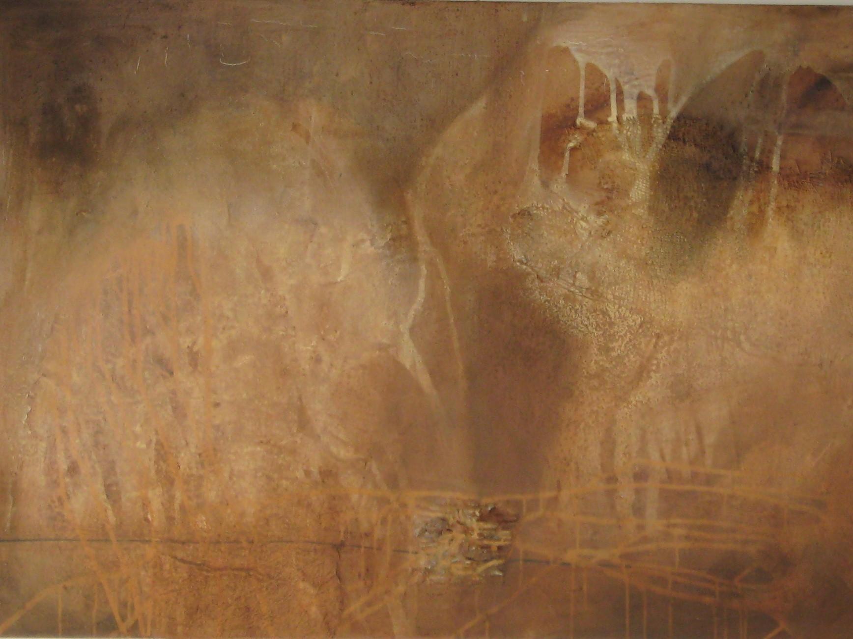 """""""LA ZISTERNA"""" Acryl / Leinen, 95 x 140 cm"""
