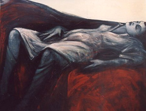 """""""NACHHER"""" Acryl / Leinen, 80 x 100 cm"""