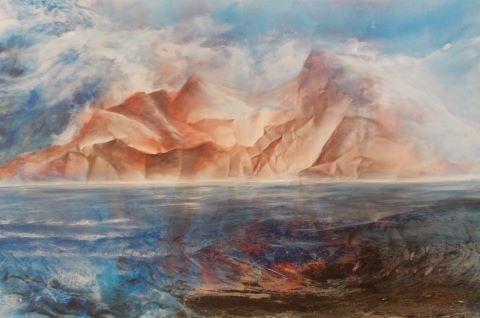 O.T. 2019, Acryl / Leinen, 150 x 95 cm