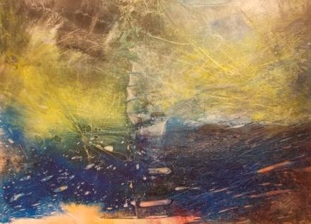 O.T. 2019, Acryl / Leinen, 70 x 50 cm